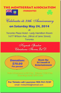 Join The Montserrat Assn At Its 39th Anniversary Celebrations @ Toronto Plaza Hotel- Lady Hamilton Rm | Toronto | Ontario | Canada